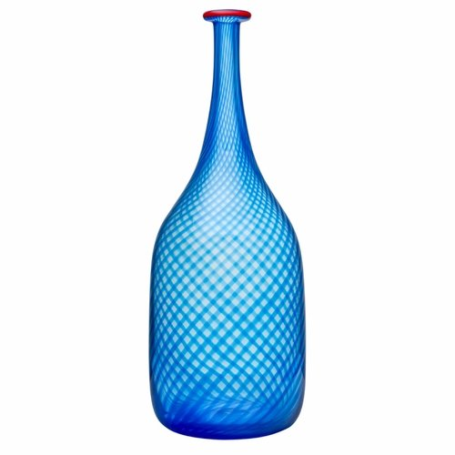 Red Rim Bottle - Blue