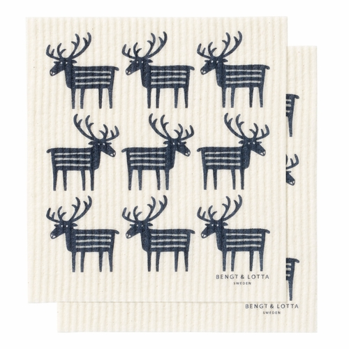Klippan Reindeer Dishcloth, Set of 2