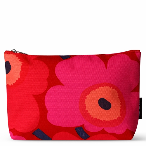 Relle Pieni Unikko Cosmetic Bag, Red/Pink