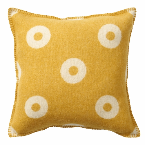 Rings Wool Cushion Cover, Yellow