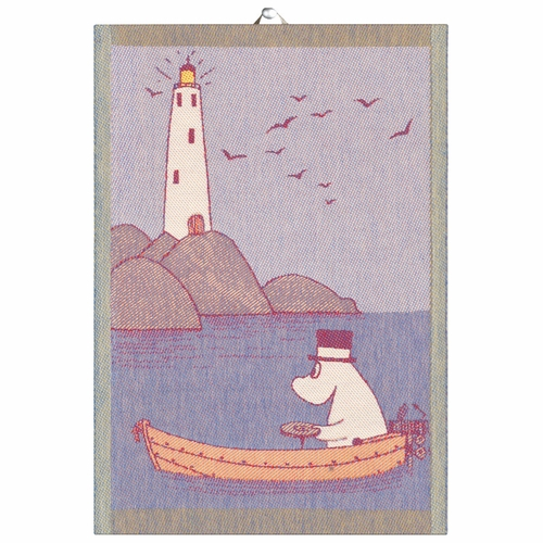 Ekelund Weavers Row The Boat Tea Towel, 14 x 20 inches