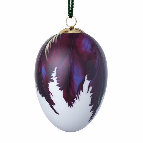Royal Copenhagen Large Hanging Easter Egg, Tulip