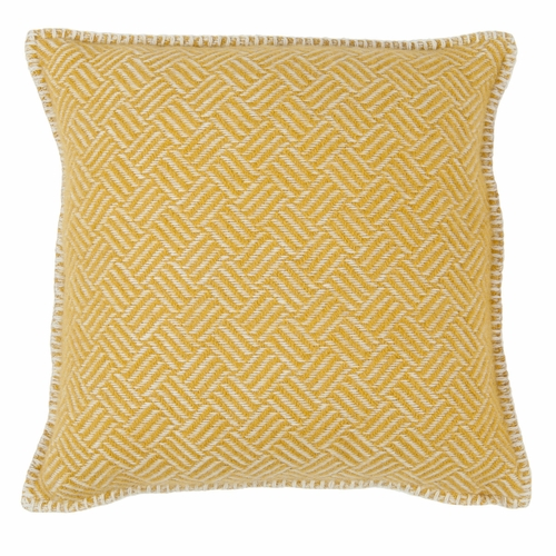 Samba Wool Cushion Cover, Yellow