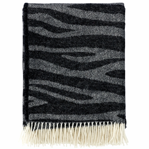 Klippan Savannah Brushed Merino & Lambs Wool Throw, Black