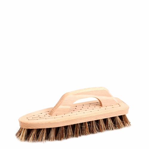 Iris Hantverk Scrubbing Brush with Handle, Union Blend Bristles