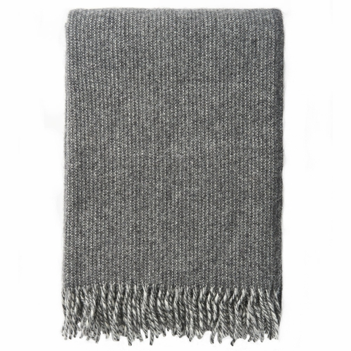 Klippan Shimmer ECO Lambs Wool Throw, Grey