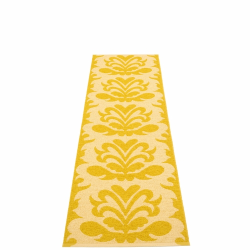 Siri Plastic Rug - Pale Yellow, 2 1/4' x 8 1/4'
