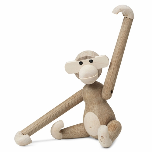 "Rosendahl Small Monkey, Oak/Maple by Kay Bojesen (7.9"")"