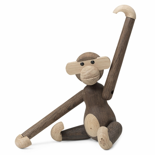 "Rosendahl Small Monkey, Oak/Smoked Oak by Kay Bojesen (7.9"")"