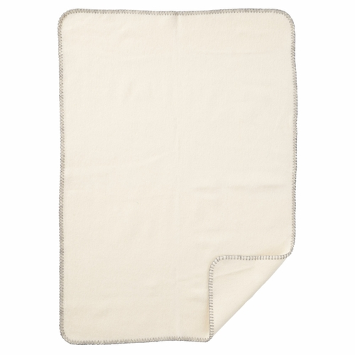 Soft Merino/Lambs Wool Baby Blanket, White