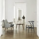 Carl Hansen & Son Special Edition CH24 Wishbone Chair, Matte Grey, Natural Paper Cord Seat