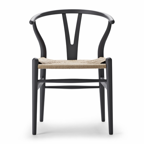 Special Edition CH24 Wishbone Chair, Matte Grey, Natural Paper Cord Seat