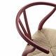 Carl Hansen & Son Special Edition CH24 Wishbone Chair, Matte Red, Natural Paper Cord Seat