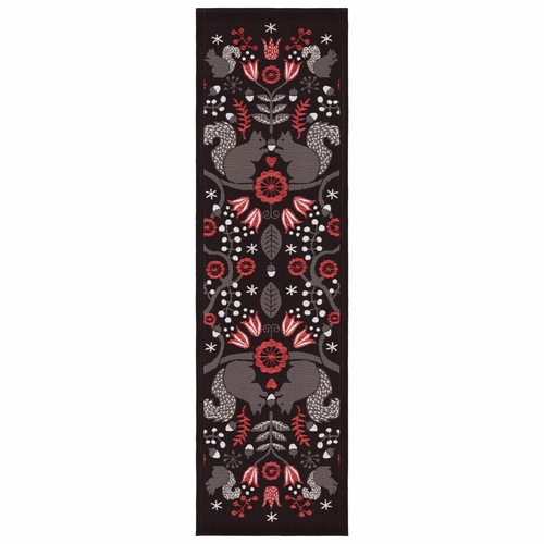 Squirrel Table Runner, 14 x 47 inches