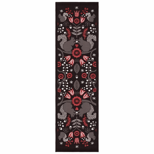 Squirrel Table Runner, 20 x 59 inches