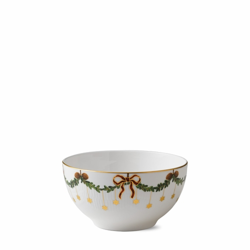 Royal Copenhagen Star Fluted Christmas Serving Bowl, 8""