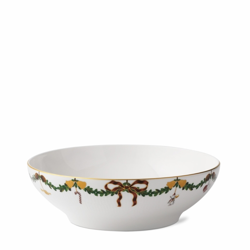 Royal Copenhagen Star Fluted Christmas Serving Bowl, 9.8""