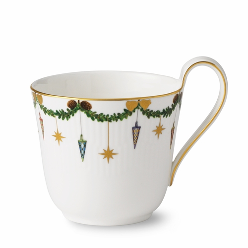 Royal Copenhagen Star Fluted High Handle Mug, 11 oz