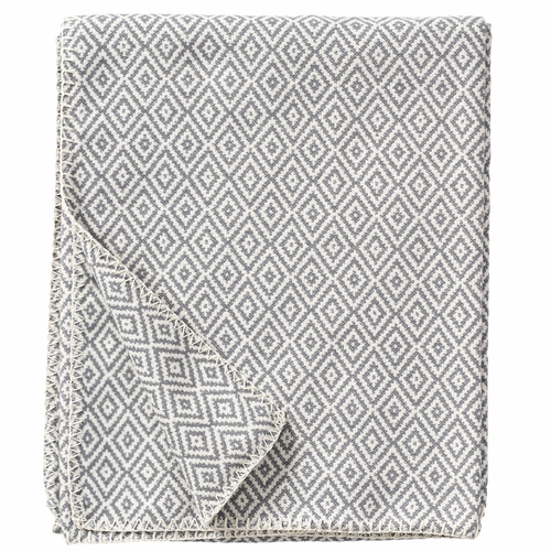 Klippan Stella Organic Brushed Cotton Blanket, Grey