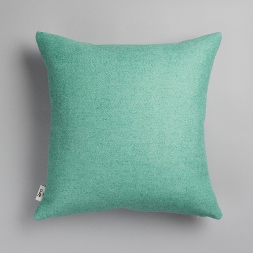 "Roros Tweed Stemor Wool Cushion, Turquoise - 20"" x 20"""