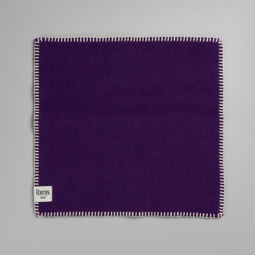 "Roros Tweed Stemor Wool Seating Pad, Violet - 18"" x 18"""
