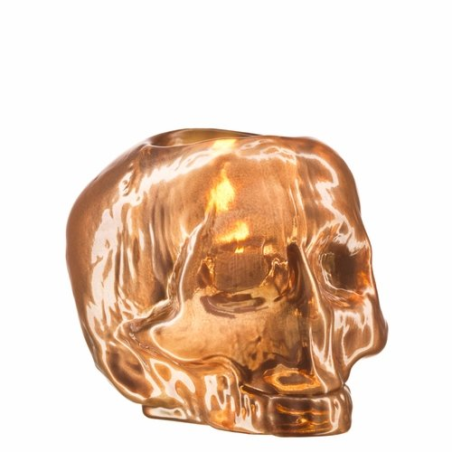 Still Life Skull Votive - Copper