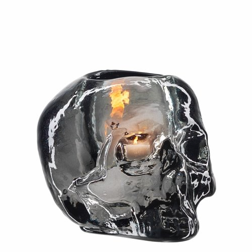 Still Life Skull Votive - Grey