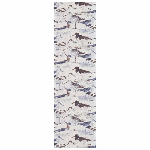 Ekelund Weavers Strandfagel Table Runner, 14 x 47 inches