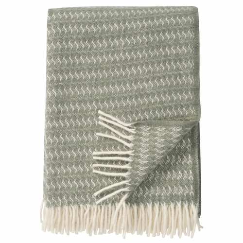 Sumba Brushed ECO Lambs Wool Throw, Dusty Green