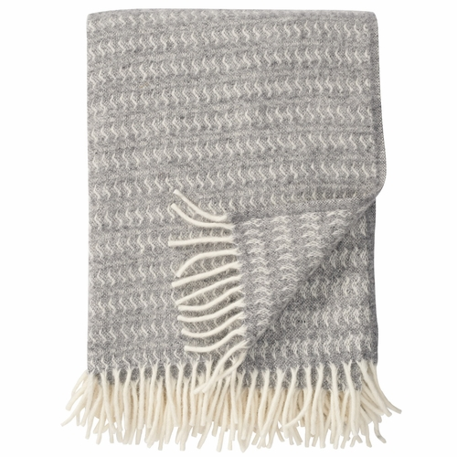 Sumba Brushed ECO Lambs Wool Throw, Light Grey