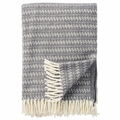 Sumba Brushed ECO Lambs Wool Throw, Warm Grey