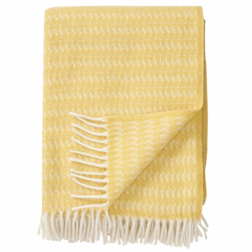 Sumba Brushed ECO Lambs Wool Throw, Yellow