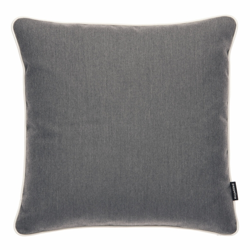 "Pappelina Sunny Dark Grey Outdoor Cushion - 17"" x 17"""