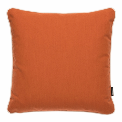 """Pappelina Sunny Pale Orange Outdoor Cushion - 17"""" x 17"""""""