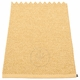 Pappelina Svea Plastic Rug - Gold Metallic/Pale Yellow, 2' x 2 3/4'