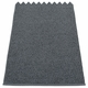 Svea Plastic Rug - Granite/Black Metallic, 2 1/4' x 1 3/4'
