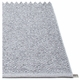 Pappelina Svea Plastic Rug - Grey Metallic/Light Grey, 7 1/2' x 10 1/2'