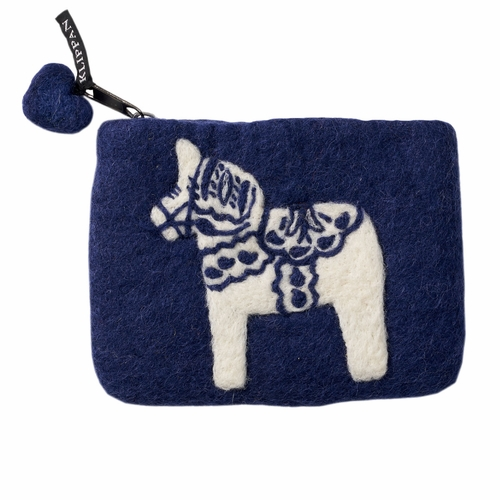 Klippan Swedish Horse Felted Wool Purse