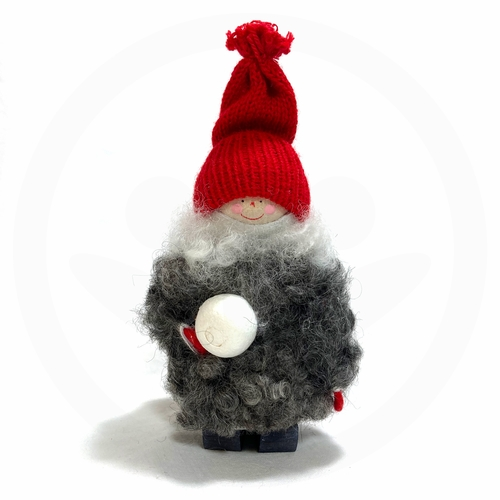 Swedish Tomte Kid with Snowball