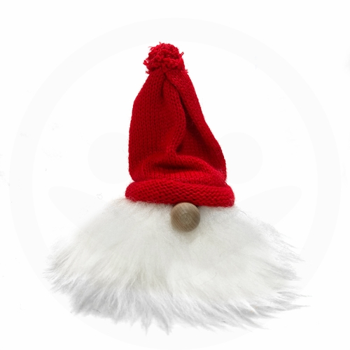 Swedish Tomte with Beard, Nose & Red Hat
