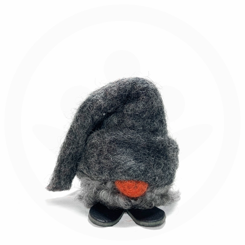 Swedish Tomte Lill Sune with Tall Grey Hat & Wool Beard
