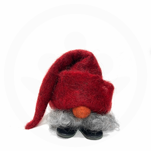 Swedish Tomte with Tall Red Hat & Wool Beard