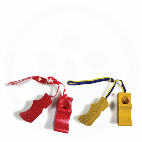 Swedish Wooden Clogs Ornament Set - Red & Yellow