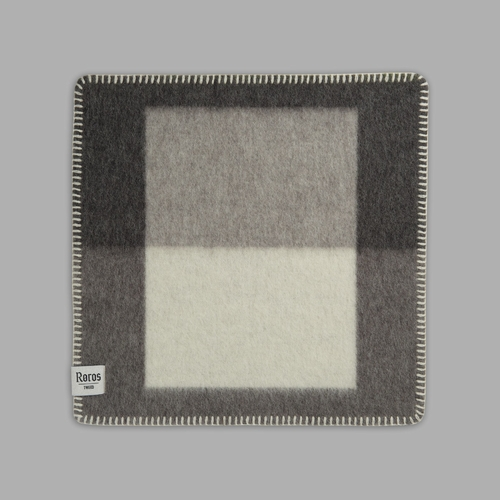 "Roros Tweed Syndin Wool Seating Pad, Slate - 18"" x 18"""