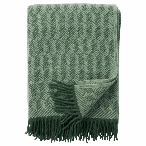 Tage Brushed Lambs Wool Throw, Green Tea