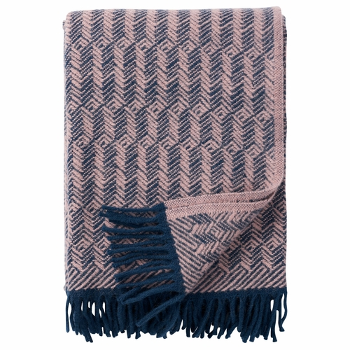 Tage Brushed Lambs Wool Throw, Lilac