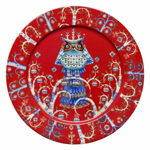 "Iittala Taika Dinner Plate 10.75"" - Red"