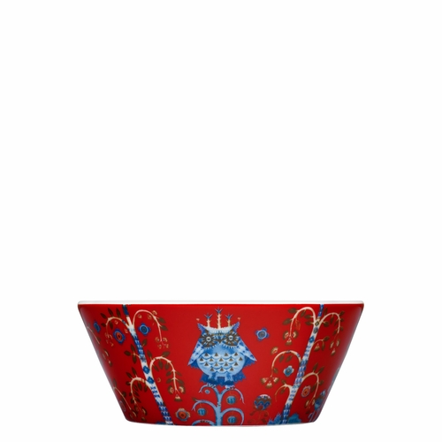 Taika Soup/Cereal Bowl, 10 oz - Red