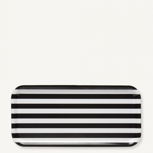 Tasaraita Rectangle Tray, White/Black