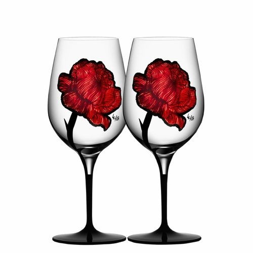 Kosta Boda Tattoo Wine Glass, Set of 2
